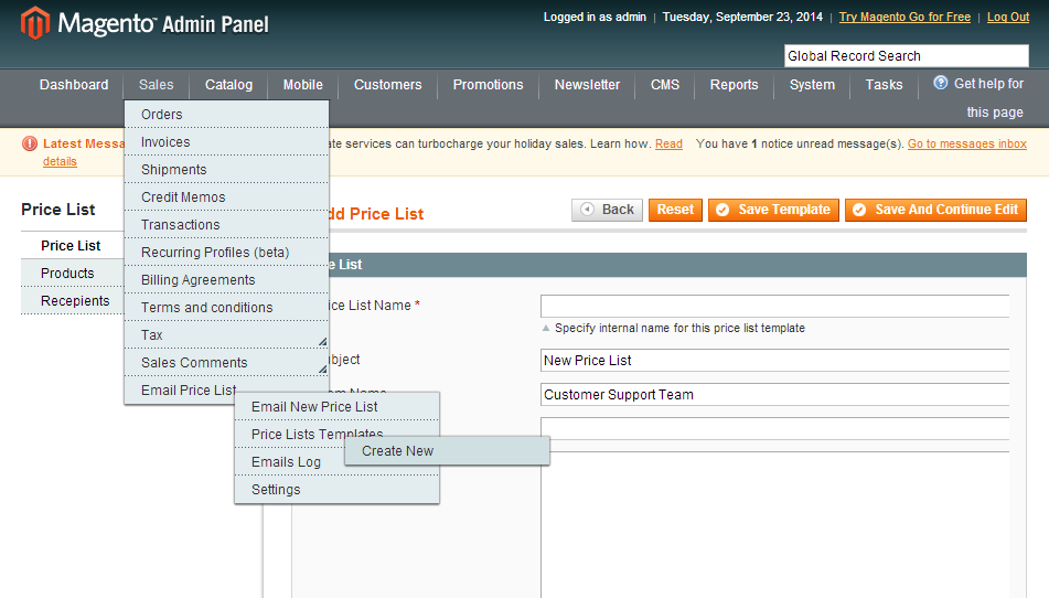 Email Price List Magento Extension Magento Extensions
