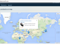 Map with products can be shown on any cms page or static block using simple snippet