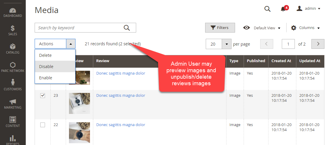 Product Reviews Images Admin Area Enable Disable