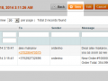All sms sent related to specific Order are displayed in separate tab on Order view page