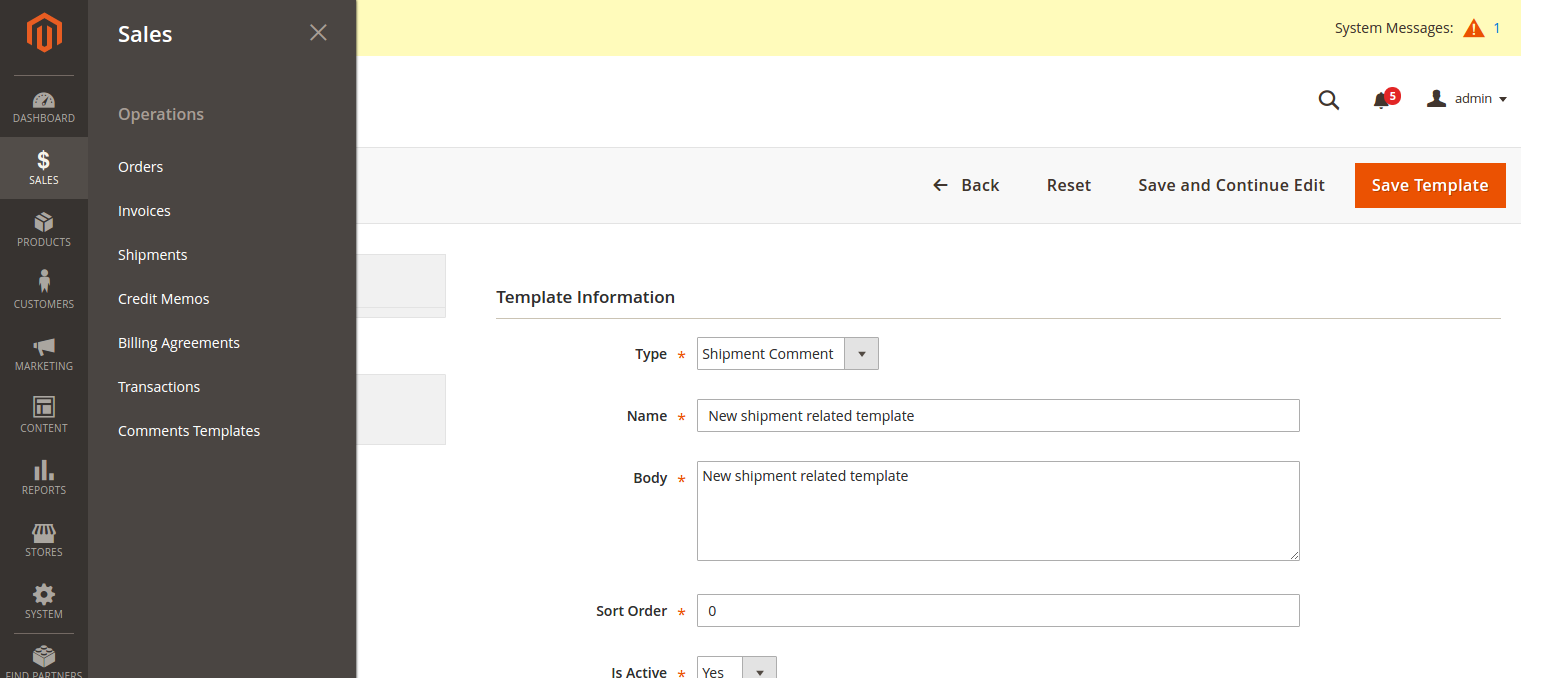 s comments templates for magento magento extensions first let s create templates for s entities such as order invoice shipment credit memo you edit delete existing comments or add new one later